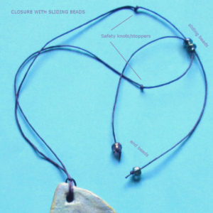 how to make sliding closure for necklace