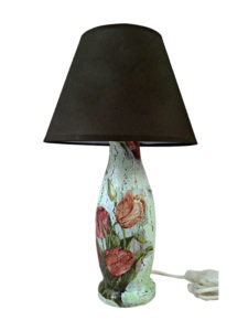 Repurpose plastic bottles and waste paper and turn them into table lamp