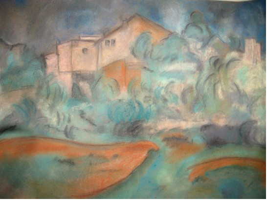 painting in pastel