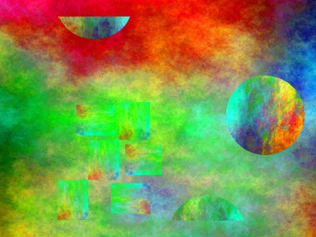 Abstract Digital Artwork in Gimp