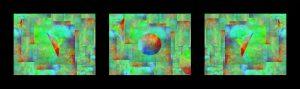 triptych - digital artwork in Gimp