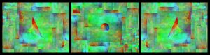 triptych - abstract digital poster