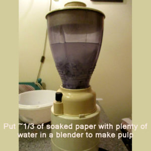 blending paper to make paper mache clay without joint compound